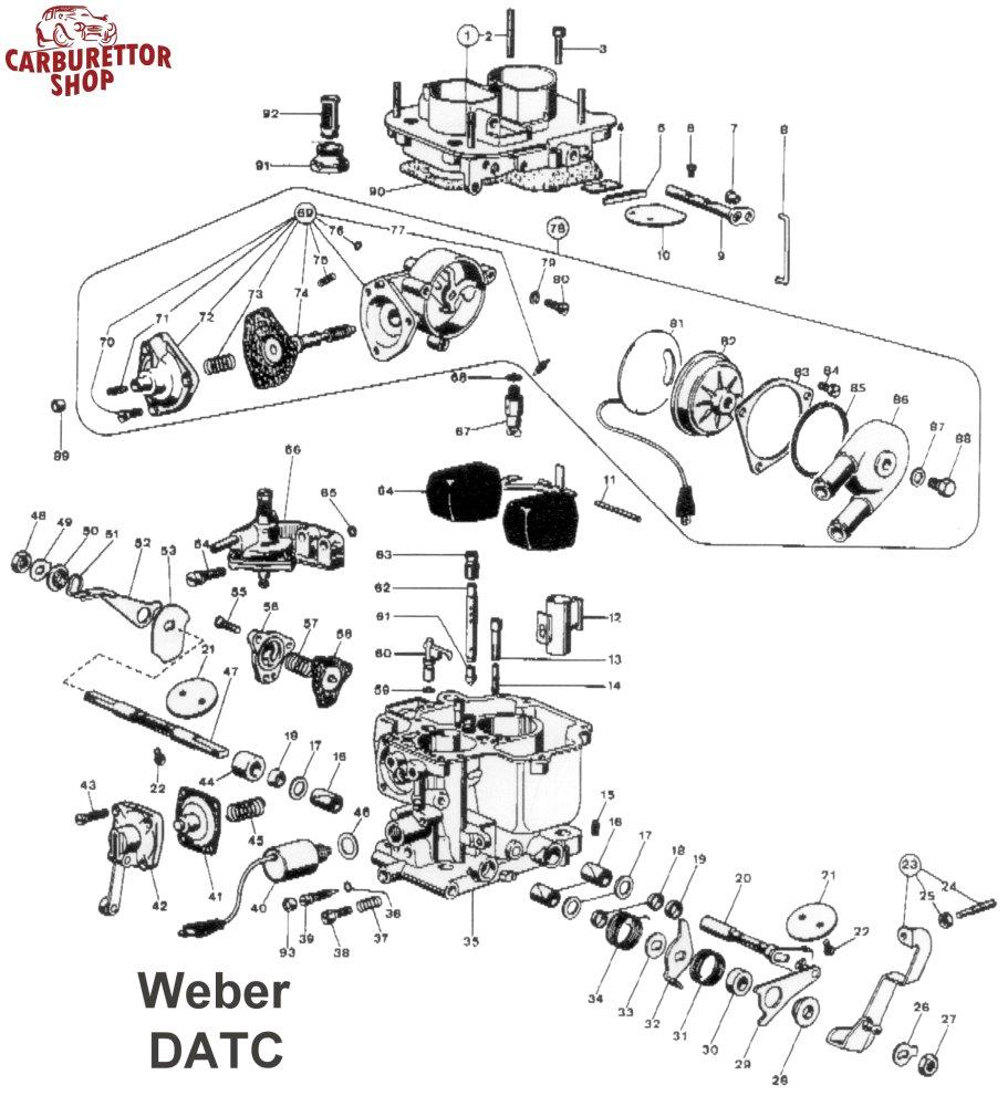 Weber DATC Carburetor Parts