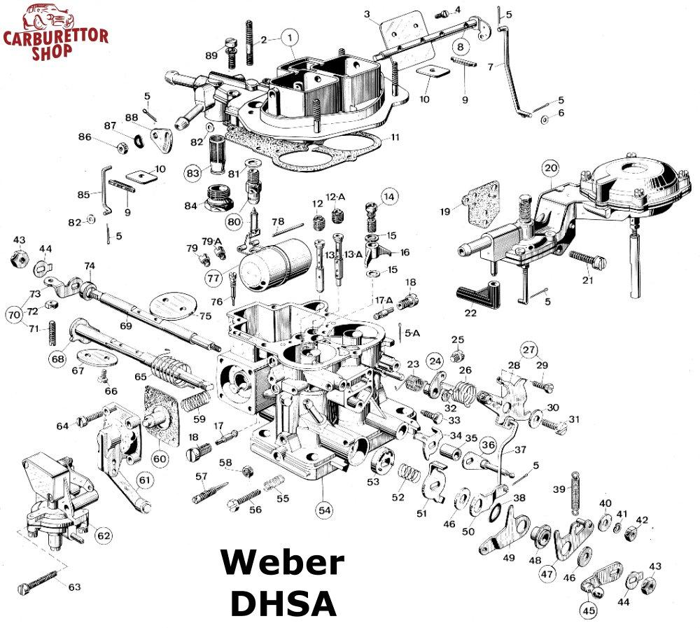 Weber DHSA Carburetor Parts