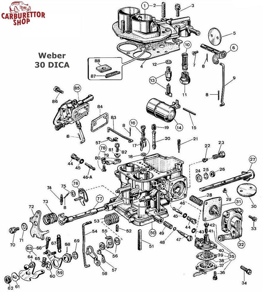 (13) Needle Valve Assembly for Weber DICA carburetors 79507