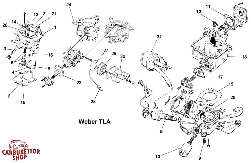 Weber TL Carburetor Parts