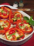 BAKED RED PEPPERS CAPRESE