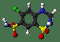 hydrochlorothiazide from xtal 3d balls
