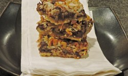 Magic Cookie Bar Stack - NEW SWEETENER GETS RAVE REVIEWS AND A RECIPE FOR ALMOST MAGIC COOKIE BARS (carbwarscookbooks.com)