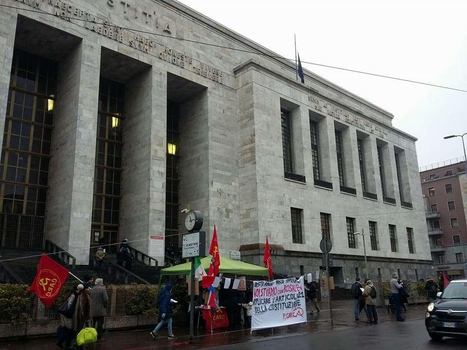 Trascrizione ufficiale e integrale dell'udienza del 5 febbraio contro la compagna Rosalba della redazione di Vigilanza Democratica.