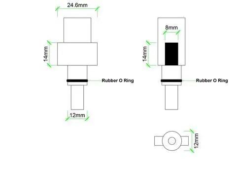 CCNL - Foamgun koppeling - Back en Decker Makita AR Blue Bosch AQT