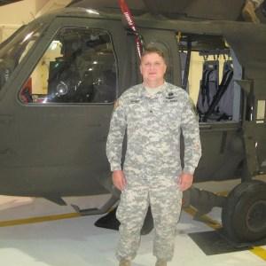 Staff Sergeant Daniel Barber & Helicopter