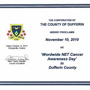NET Cancer Awareness Day Proclamation