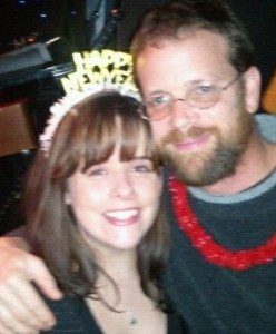 Deirdre Durant, lung carcinoid survivor, and her partner, John