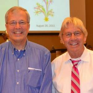 Bob Thompson (left) and his physician Dr. Joseph Tector