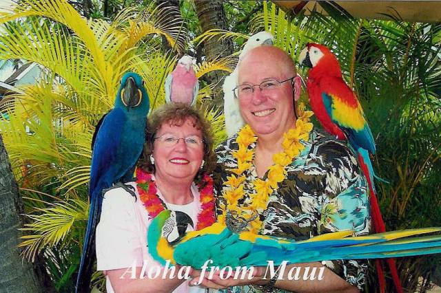 Susan and Howard Anderson in Maui