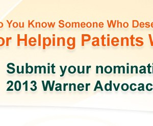 Warner Advocacy Award 2013 Call for Nominations