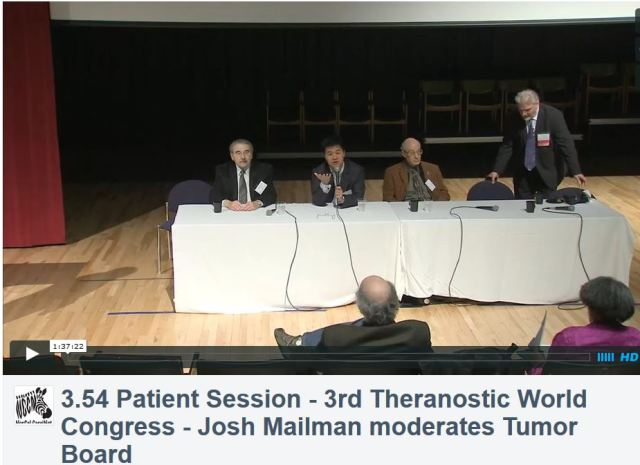 3rd Theranostics World Congress, Patient Session with Physician Panel