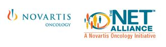 Novartis Oncology and NET Alliance logos