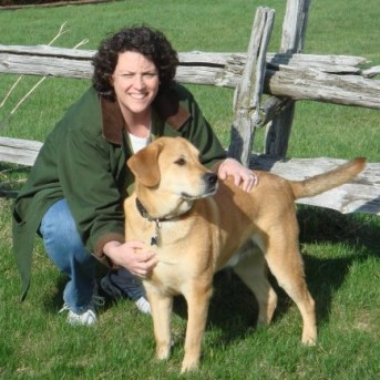 Jackie Gregory and dog, Harley