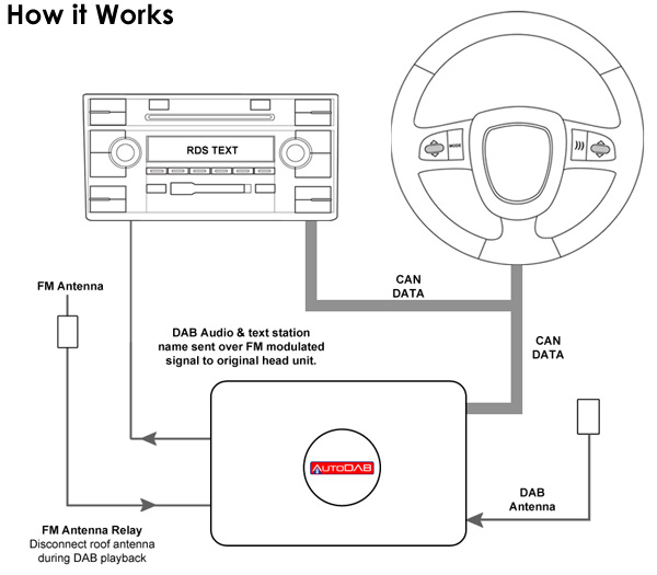 Connects2 Auto DAB Digital DAB OEM Radio Tuner for Fiat