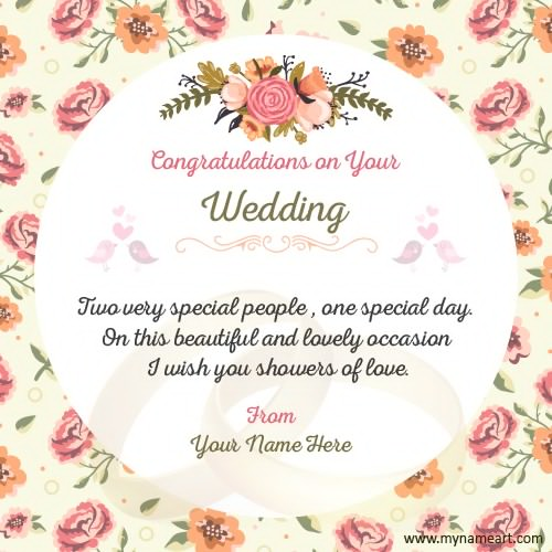 Wedding Card Wishing You Wedding Invitation Sample