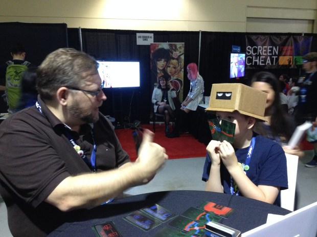 This kid loved the hat! He also beat his dad at RESISTOR_. Woo!