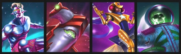 The Galactic Waveryder, Lazer Shark, Super Sheriff, and Phantom Cosmonaut