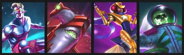 The Galactic Waveryder, Lazer Shark, Super Sheriff, and Phantom Cosmonaut