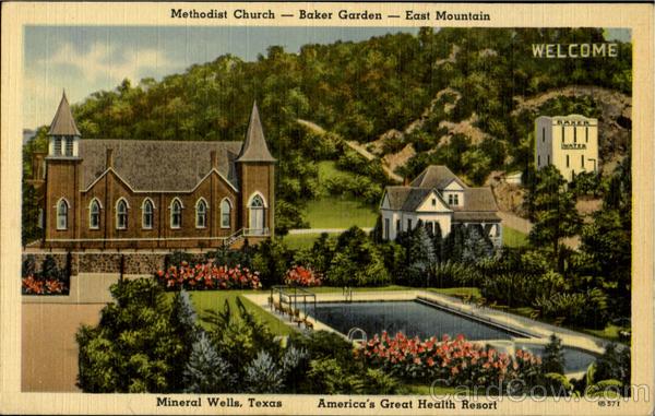 Methodist Church Baker Garden Mineral Wells TX