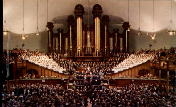 Interior Of Mormon Tabernacle Temple Square Salt Lake