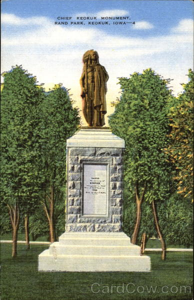 Chief Keokuk Monument Rand Park