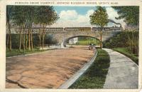 Furnace Brook Parkway Showing Railroad Bridge Quincy, MA