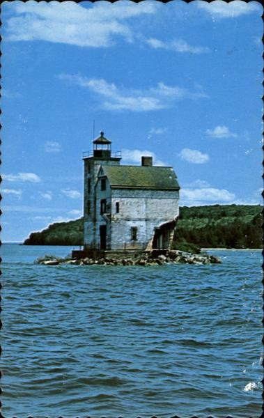 Abandoned Round Island Lighthouse Michigan