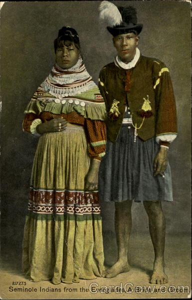 Seminole Indians From The Everglades A Bride And Groom