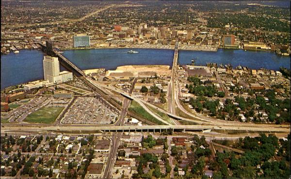 Aerial View Of Jacksonvilles Expressway Florida