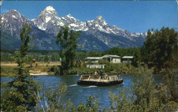 Menors Ferry Crossing Snake River Jackson Hole Scenic WY