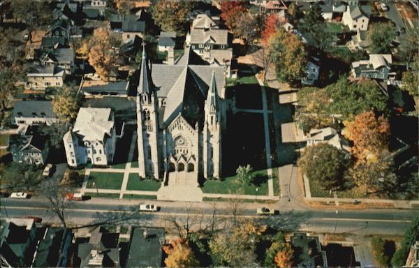 Aerial View Of St Marys Church 46 Main St Cortland NY