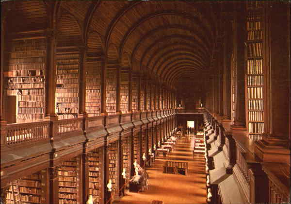 Dublin City And River Liffey Trinity College Library Ireland