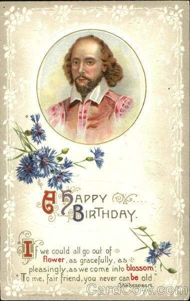William Shakespeare A Happy Birthday Men