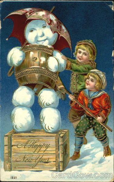 A Happy New Year Snowmen