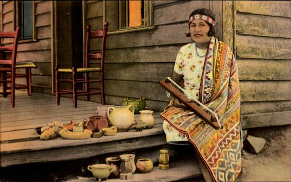Cherokee Indian Pottery And Beach Maker Native Americana