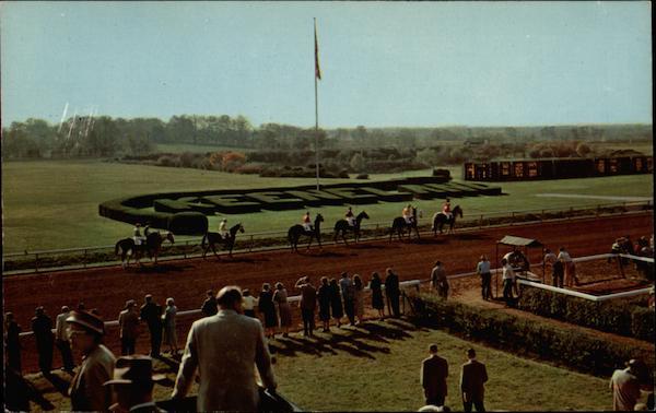 Parade to the post at Keeneland Race Course Lexington Kentucky