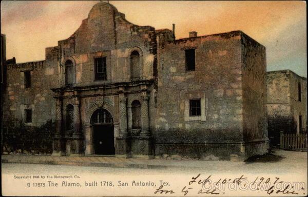 The Alamo Built 1718 San Antonio TX