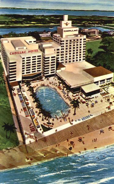 The Cadillac Hotel Oceanfront  39th to 40th Streets Miami Beach FL