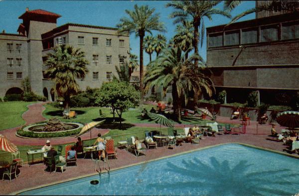 Patio Of Hotel Westward Ho Phoenix AZ