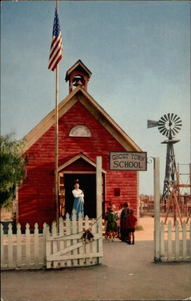 The Little Red School House Knotts Berry Farm Ghost
