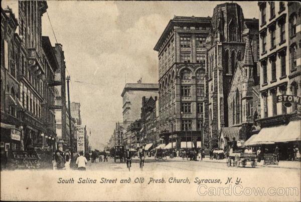 South Salina Street and Old Presb Church Syracuse NY