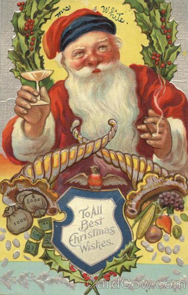 Santa Smoking A Cigar Santa Claus
