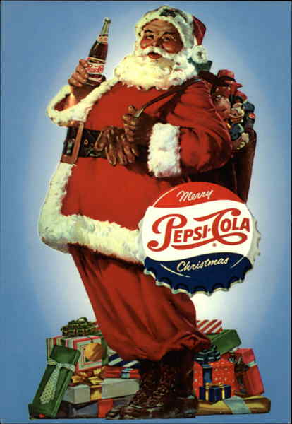 Merry Christmas From Pepsi Cola Advertising Reproductions