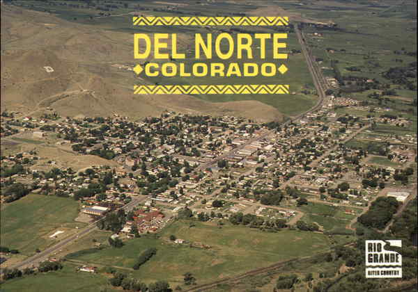 Aerial view of Del Norte Colorado