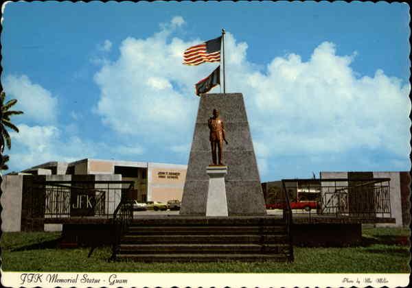 JFK Memorial Statue  Guam South Pacific