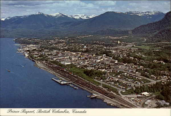 Aerial view of Prince Ripert Prince Rupert BC Canada