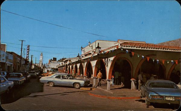 Mercado Zaragoza Market Vintage Post Card
