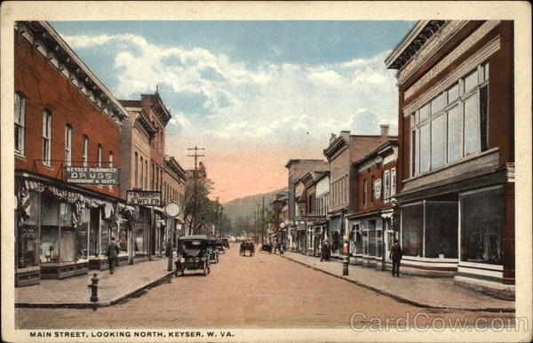 Main Street Looking North Keyser WV