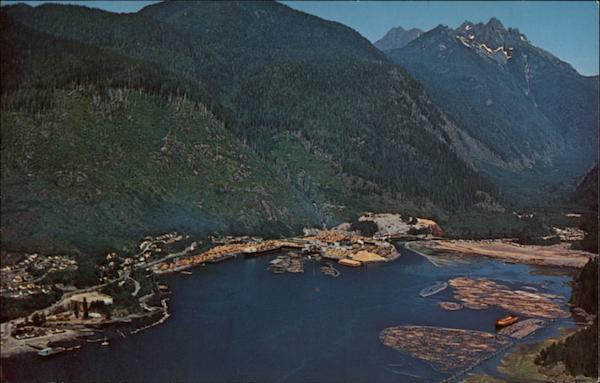 Aerial View Of Tahsis Company Ltds Sawmill British